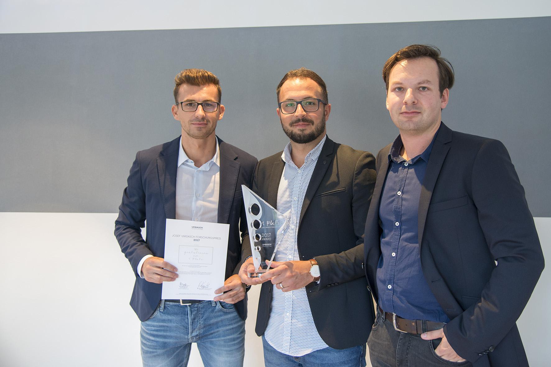 Studierende gewinnen Umdasch Forschungspreis 2017