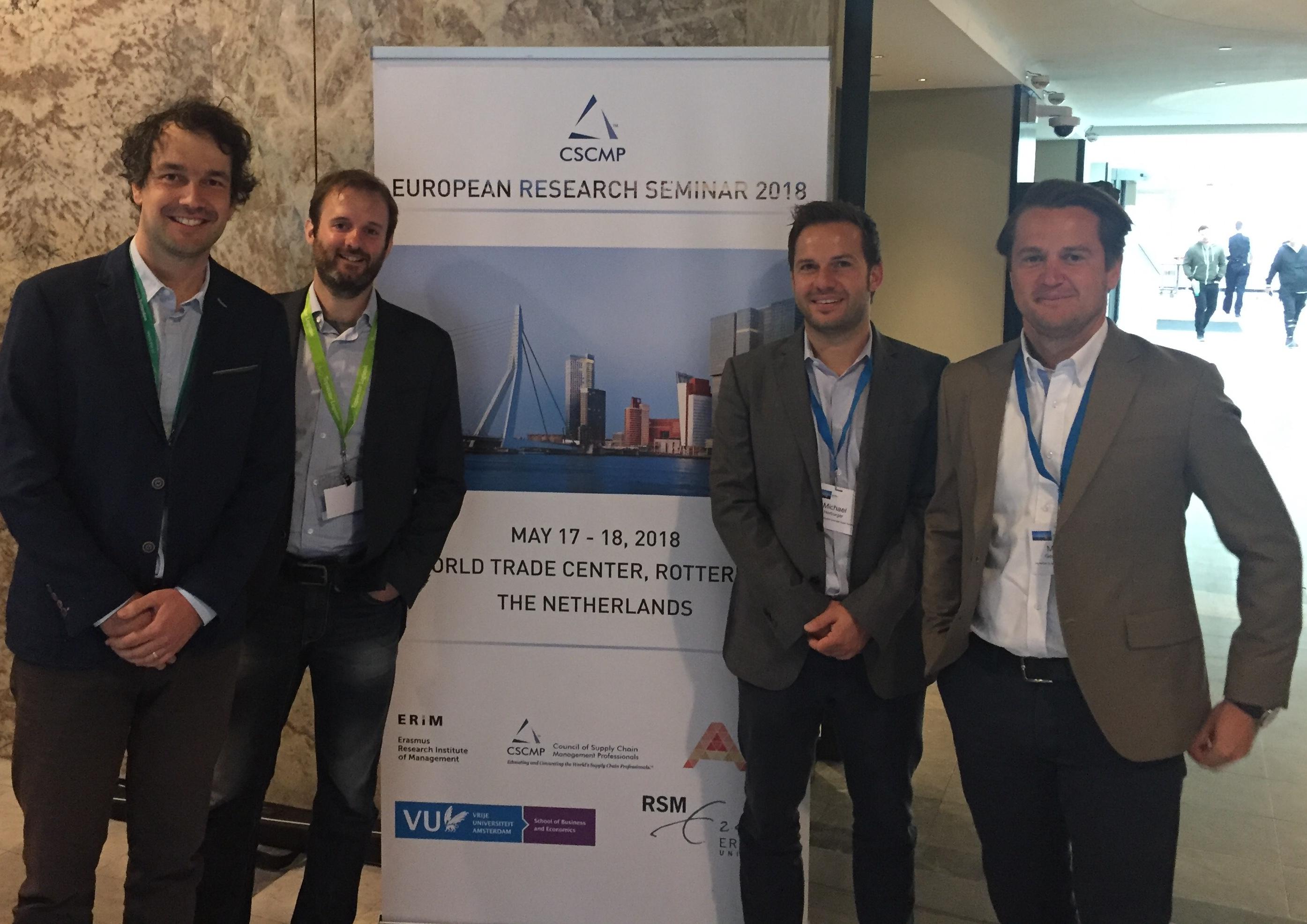 Logistikum bei der ERS CSCMP Konferenz in Rotterdam